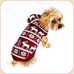 Hooded Reindeer Sweater Burgundy