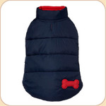 Puffer Reversible Coat Navy & Red