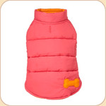 Puffer Reversible Coat Pink & Orange