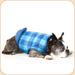 Buffalo Plaid Blue Reversible Down Coat