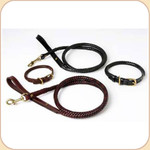 Braided Leather Snap Leash