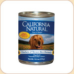 California Natural Chicken &amp; Brown Rice Formula (Canned)