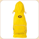 Hooded Raincoat in Yellow--Pocket