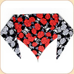 Roses and Skulls Reversible Bandana