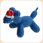 Santa Balloon Blue Dog