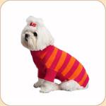 Roll Neck Azalea & Orange Striped Sweater