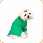 Roll Neck Grass Green Sweater
