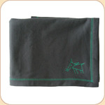 Spunky Dog Emblem Charcoal Blanket