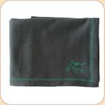 Spunky Dog Emblem Charcoal Blanket