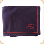 Spunky Dog Emblem Purple Blanket