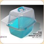 Van Ness Enclosed Translucent Litter Pan--Large