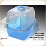 Van Ness Enclosed Translucent Litter Pan--XL