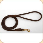 Nylon Snap Leash Brown
