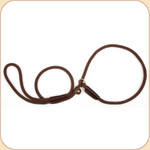 Nylon Slip Leash Brown