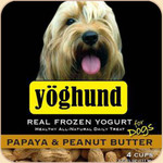 Yoghund Frozen Yogurt Papaya &amp; Peanut Butter