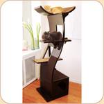 The Espresso Lotus Cat Tower