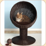 This Faux-Rattan Version of the Pedestal Bed Is Listed Separately