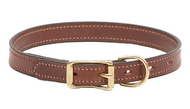 "Leather Buckle Dog Collar - English Bridle Leather - 3/4"" Wide"