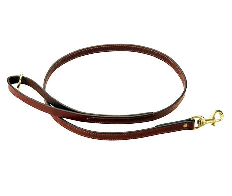 English Bridle Leather Dog Leash