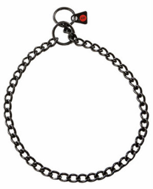 2.5mm Black Choke Chain Dog Collar