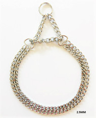 Double Row Martingale Dog Chain - 2.5mm