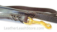 "Bullhide Leather Leash - 5/8"" Chocolate Brown with Brass Snap"