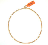 Brass Choke Chain Collar