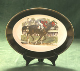 Race Horse-Oval Serving Platter