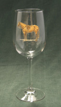Hunter Horse- Wine Glasses-Set of 4