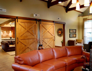 Our Katonah Barn Door Handle used in a commercial project