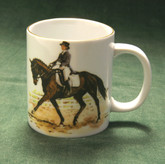 """Dressage Test"" Mug with Gold Band"