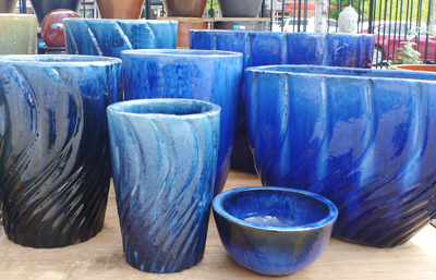 Blue Wave Outdoor Planters