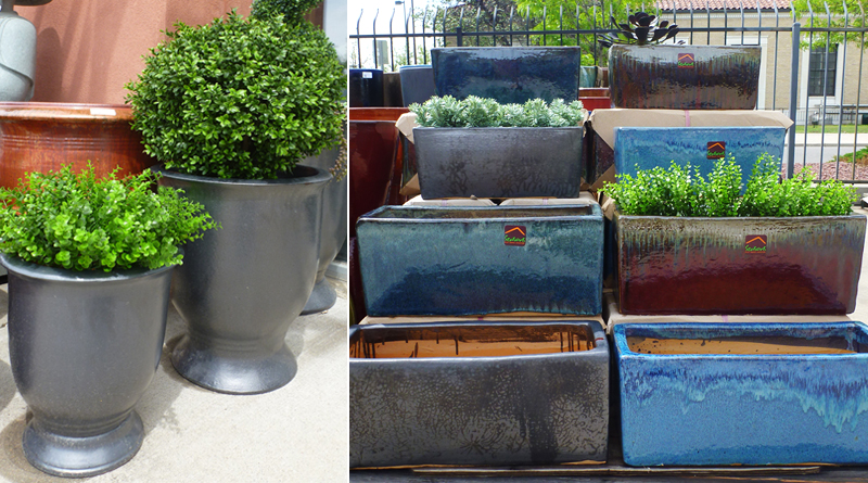 Rectangular window planters & Classic urn planters