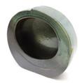 Green Circle Flat Vase