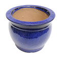 "6"" Rd Self Water Pot Falling Blue"