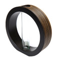 Mango Wood Grooved Ring Vase Brown