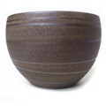 Brown/ Blue Metallic Round Tea Cup