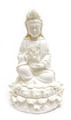 9in White Sitting Quan Yin