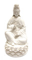 15in White Sitting Quan Yin