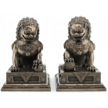 Beijing Fu Dog Pair, Front View - T-Trove