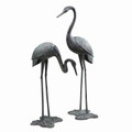 6ft Brass Garden Crane Pair