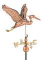 Heron Weathervane Polished