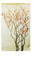 Pink Berry Branch White Noren