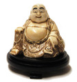 Ox Bone Sitting Smiley Buddha