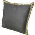 22in Tai Silk Black Pillow