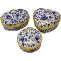 Blue Print Ceramic Jewelry Box Set L