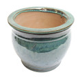 "5"" Rd Self Water Pot Forest Green"