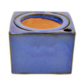 "5"" Sq Self Water Pot Falling Blue"
