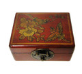 Leather Rectangular Storage Box Red