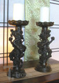 Bronze Dragon Candle Holder Pair